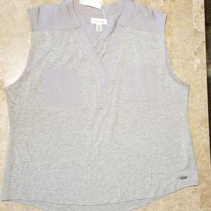 Calvin Klein XL light gray sleveless tee